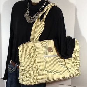 Bella Tunno gold/cream tote/diaper bag